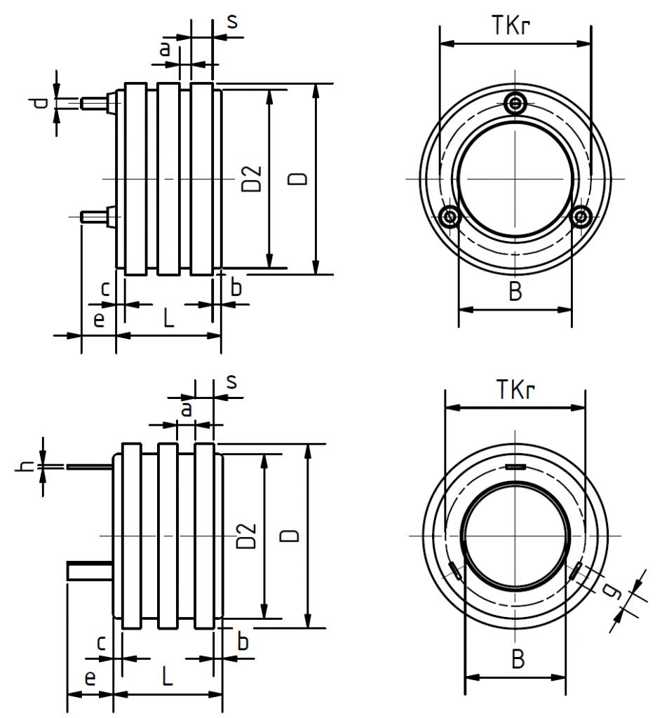 Technische Zeichnung Schleifringkörper