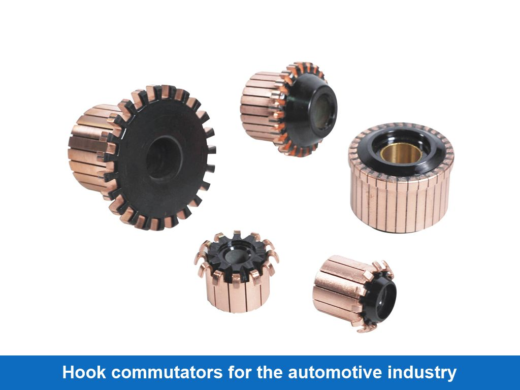 Hook commutators for the automotive industry