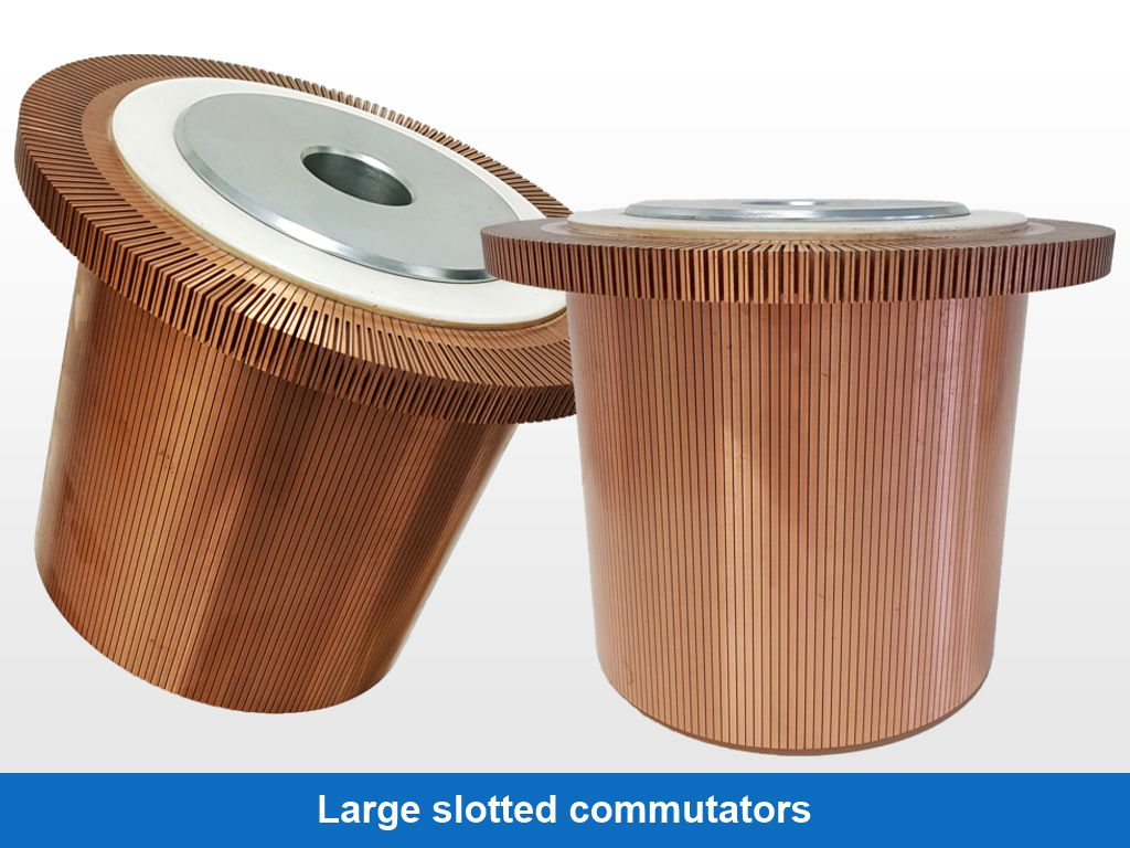 Large slotted commutators