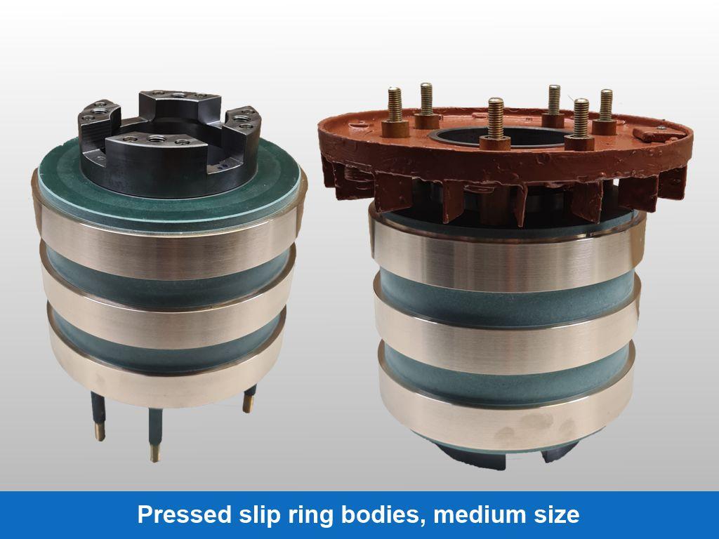 Pressed slip ring bodies, medium size