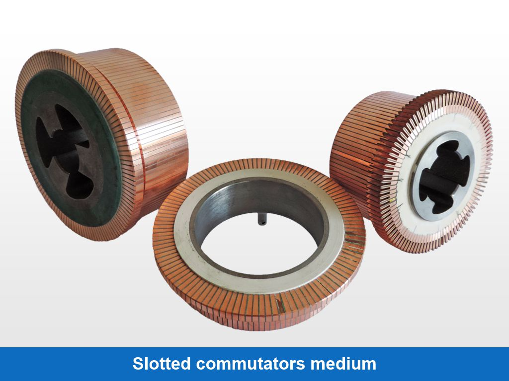 Slotted commutators medium