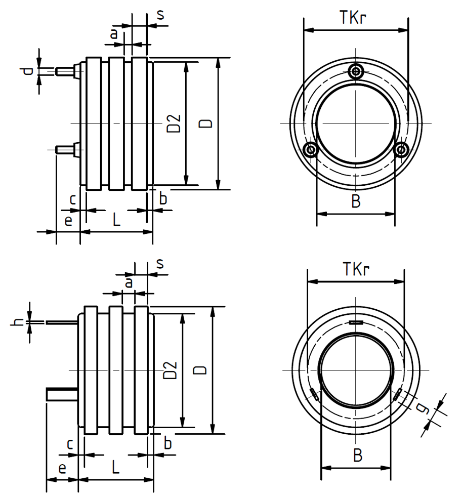 Technical drawing slip ring body
