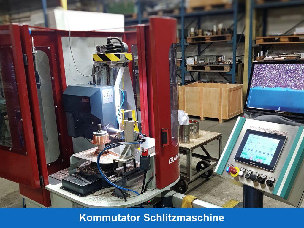 Kommutator Schlitzmaschine